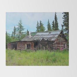 Alaskan Frontier Cabin Throw Blanket