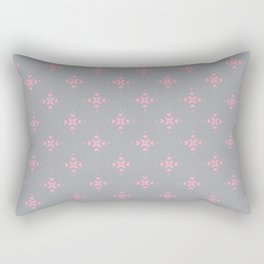 Ornamental Pattern with Grey and Pink Colourway Rectangular Pillow