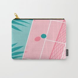Jock - tennis sport retro neon throwback palm springs los angeles hollywood california sunny pop art Carry-All Pouch