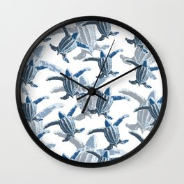Leatherback Love Wall Clock