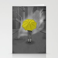 himym Stationery Cards featuring The Girl With The Yellow Umbrella - HIMYM by dbarroso