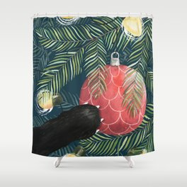 Here Comes Santa Claws Shower Curtain