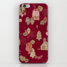 Hansel and Gretel Fairy Tale Gingerbread Pattern iPhone Skin