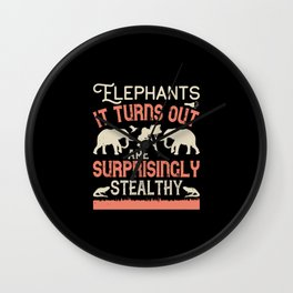 Elephant Quote - 11 Wall Clock