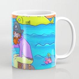 Pirate feeding his fish-home! Coffee Mug