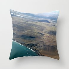 Iceland From Air Throw Pillow