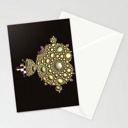 Apollonian net Mandelbrot vintage set  Stationery Cards