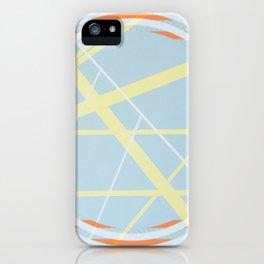 crossroads ll - orangle circle graphic iPhone Case