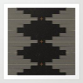 Southwestern Minimalist Black & White Art Print