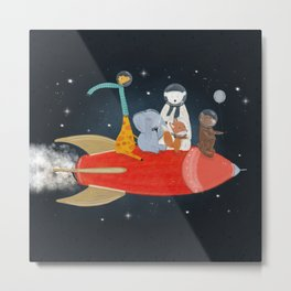 lets all go to the moon Metal Print