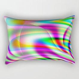 Colorburst Abstract Rectangular Pillow