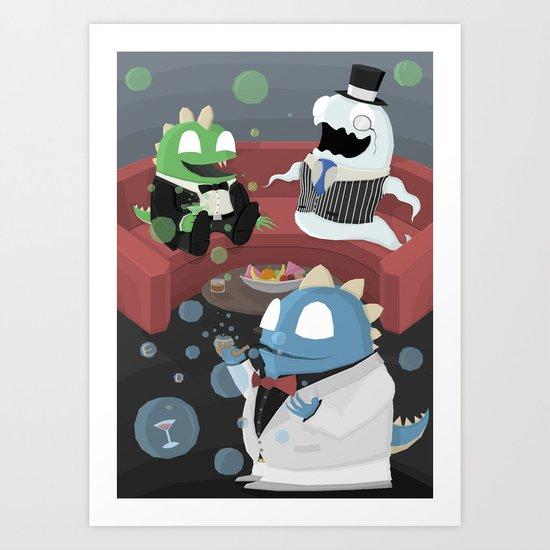 Bubble Bobble Cocktail Party Art Print