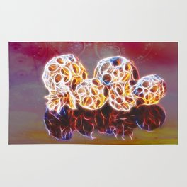 Balls and Cones  Abstract Rug