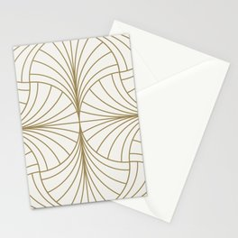 Diamond Series Inter Wave Gold on White Stationery Cards