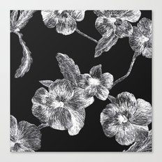 Flower Scratchboard Canvas Print