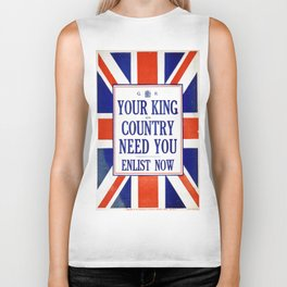 Vintage poster - Your King and Country Need You Biker Tank
