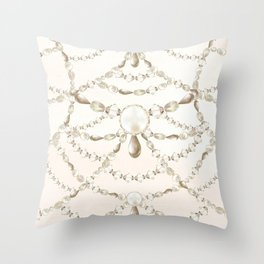 Beaded Pearls Throw Pillow