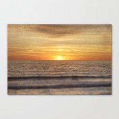 California Sunset Over Ocean Canvas Print