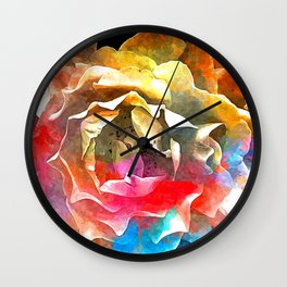 Roses Colored Wall Clock