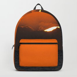 Watercolor Sunset, Gulf Island Beach 02, Florida Backpack