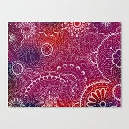transparent  zen pattern vinous gradient Canvas Print