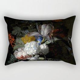 "Jan van Huysum ""Flowers in a glass vase"" Rectangular Pillow"