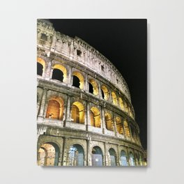 Il Colosseo - The Coliseum at Night (Rome, Italy) Metal Print
