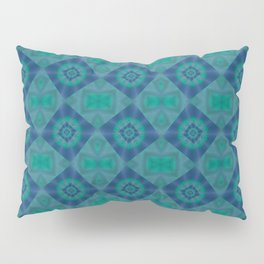 Jade and Blue Repeating Aurora Pattern Pillow Sham