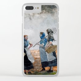Winslow Homer Three Fisher Girls, Tynemouth Clear iPhone Case