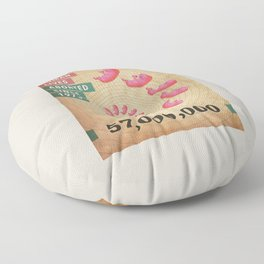Fifty Seven Million Abortions Floor Pillow