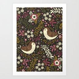 Sweet Robins Art Print
