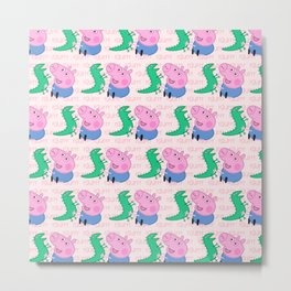 Peppa Pg Pattern 04 Metal Print
