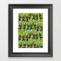 monkey line Framed Art Print