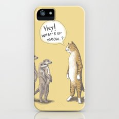Cat & Meerkats iPhone (5, 5s) Slim Case