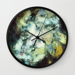 Escaping horses Wall Clock