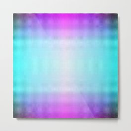 Five color blue, pink, purple, white, black ombre Metal Print