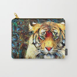 Fantazi (Tiger is Not Amused II) Carry-All Pouch
