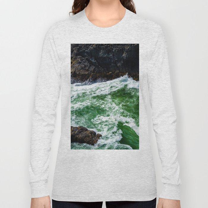 Emerald Sea Foam Long Sleeve T-shirt