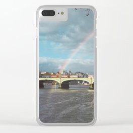 End of the Rainbow. Clear iPhone Case