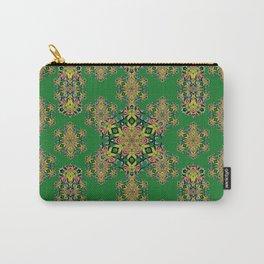 Hummingbird Trumpet Flower Kaleidoscope7 w/green background Carry-All Pouch