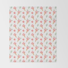 Floral Chill Rose Pattern Throw Blanket