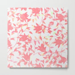 Pink Tulip Floral Metal Print