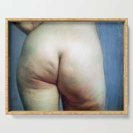 Felix Vallotton -  Study of buttocks (new color editing) Serving Tray