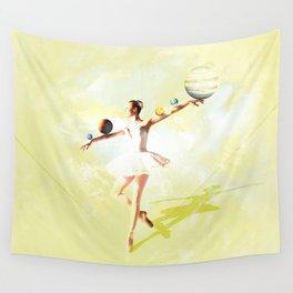 Bailarina yellow Wall Tapestry