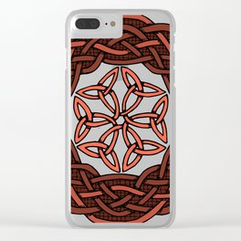 Celtic Knotwork Circle Clear iPhone Case