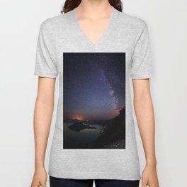 Crater Lake Galaxy Unisex V-Neck