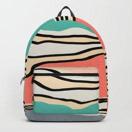 Modern irregular Stripes 10 Backpack