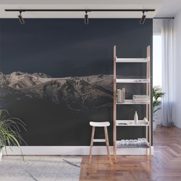 Dreamy sunset on the mountain top Wall Mural