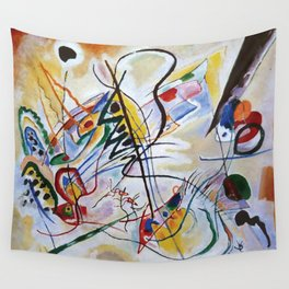 Violet Wedge, Abstract, Wassily Kandinsky, 1919 Wall Tapestry