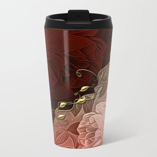 Beautiful floral design Metal Travel Mug